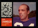 1962 Topps #107  Don Chandler  Front Thumbnail