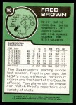 1977 Topps #30  Fred Brown  Back Thumbnail