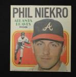 1970 Topps Poster #2  Phil Niekro  Front Thumbnail