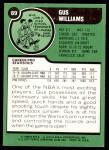 1977 Topps #89  Gus Williams  Back Thumbnail
