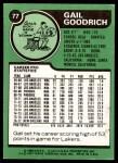 1977 Topps #77  Gail Goodrich  Back Thumbnail