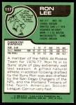 1977 Topps #117  Ron Lee  Back Thumbnail