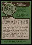 1977 Topps #114  Junior Bridgeman  Back Thumbnail