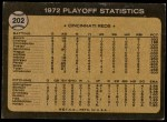 1973 Topps #202   -  George Foster / Pete Rose / Alex Grammas 1972 NL Playoffs - Foster's Run Decides It Back Thumbnail
