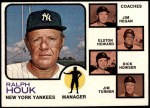 1973 Topps #116 BRN  -  Ralph Houk / Jim Hegan /  Elston Howard / Dick Howser / Jim Turner Yankees Leaders Front Thumbnail