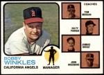 1973 Topps #421 BRN  -  Bobby Winkles / Tom Morgan / Salty Parker / Jimmie Reese / John Roseboro Angels Leaders Front Thumbnail