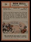 1962 Topps #24  Ron Bull  Back Thumbnail
