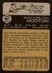 1973 Topps #367  Burt Hooton  Back Thumbnail