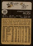 1973 Topps #360  Joe Rudi  Back Thumbnail