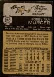 1973 Topps #240  Bobby Murcer  Back Thumbnail