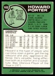 1977 Topps #102  Howard Porter  Back Thumbnail