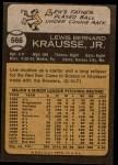 1973 Topps #566  Lew Krausse  Back Thumbnail