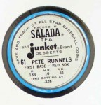 1963 Salada Metal Coins #61  Pete Runnels  Back Thumbnail