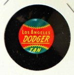 1965 Guys Potato Chip Pin #11   Los Angeles Dodgers Front Thumbnail
