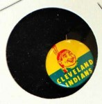 1965 Guys Potato Chip Pin #6   Cleveland Indians Front Thumbnail