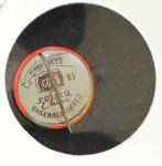1965 Guys Potato Chip Pin #17   San Francisco Giants Back Thumbnail