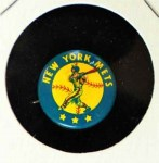 1965 Guys Potato Chip Pin #14   New York Mets Front Thumbnail