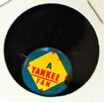 1965 Guys Potato Chip Pin #20   Yankee Fan Front Thumbnail