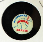 1964 Guys Potato Chip Pin #12   Milwaukee Braves Front Thumbnail