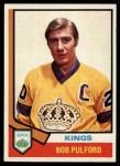 1974 Topps #229  Bob Pulford  Front Thumbnail