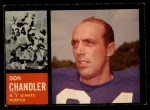 1962 Topps #107  Don Chandler  Front Thumbnail
