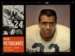 1962 Topps #52  Nick Pietrosante  Front Thumbnail