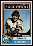 1974 Topps #127   -  Richard Martin All-Star Front Thumbnail