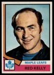 1974 Topps #76  Red Kelly  Front Thumbnail