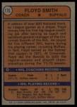 1974 Topps #176  Floyd Smith  Back Thumbnail