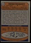 1974 Topps #142  Rene Robert  Back Thumbnail
