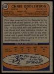 1974 Topps #108  Chris Oddleifson  Back Thumbnail