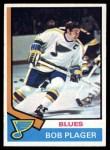 1974 Topps #107  Bob Plager  Front Thumbnail
