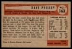 1954 Bowman #163 xTR Dave Philley  Back Thumbnail