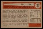 1954 Bowman #35 ERR Eddie Joost  Back Thumbnail