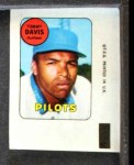 1969 Topps Decals  Tommy Davis  Front Thumbnail