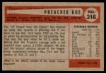 1954 Bowman #218 INK Preacher Roe  Back Thumbnail
