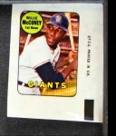 1969 Topps Decals  Willie McCovey  Front Thumbnail