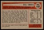1954 Bowman #127  Del Ennis  Back Thumbnail