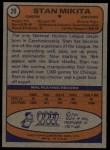 1974 Topps #20  Stan Mikita  Back Thumbnail