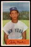 1954 Bowman #145 2B Billy Martin  Front Thumbnail
