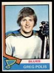 1974 Topps #164  Greg Polis  Front Thumbnail