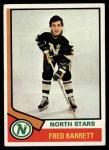 1974 Topps #234  Fred Barrett  Front Thumbnail
