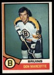 1974 Topps #221  Don Marcotte  Front Thumbnail