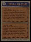 1974 Topps #136   -  Bill White All-Star Back Thumbnail