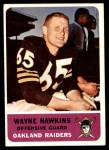 1962 Fleer #71  Wayne Hawkins  Front Thumbnail