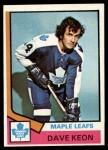 1974 Topps #151  Dave Keon  Front Thumbnail