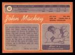 1970 Topps #62  John Mackey  Back Thumbnail
