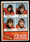 1974 Topps #14   -  Jacques Richard / Tom Lysiak / Keith McCreary Flames Leaders Front Thumbnail