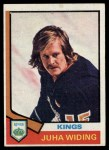 1974 Topps #258  Juha Widing  Front Thumbnail