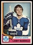 1974 Topps #168  Lanny MacDonald  Front Thumbnail
